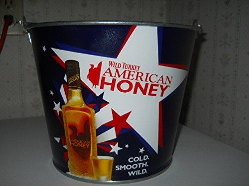 WILD TURKEY American Honey Advertisement Promotional Metal Ice Tip Bar Bucket
