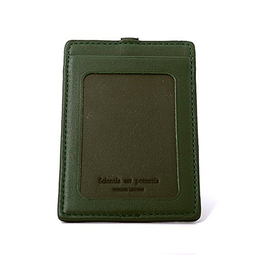 portrait reel Noir Green SLIP with ID elastic ON holder SPnqEaw