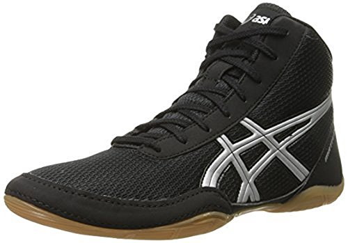 ASICS Men's Matflex 5 Wrestling Shoe, Black/Silver, 11 M US