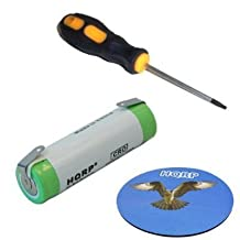 HQRP Battery fits 482213810336 replacement, most Electric Razor Shavers Remington, Braun, R17 plus Screwdriver and Coaster