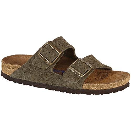 Birkenstock Arizona Soft Footbed Forest Suede Sandals 40 (US Women's 9-9.5)