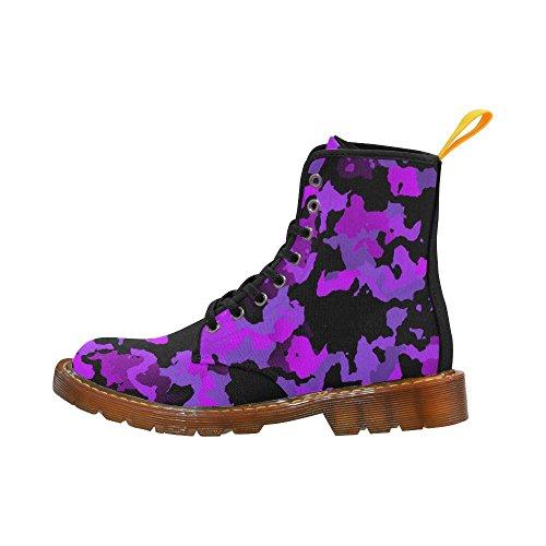 Leinterest Estilo Moderno Camuflaje Martin Botas Zapatos De Moda Para Hombres