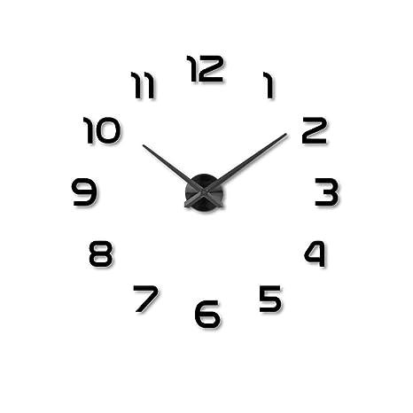 Reloj 3D Reloj de Pared de la Sala Reloj DIY 20 Pulgadas Reloj de Pared Digital