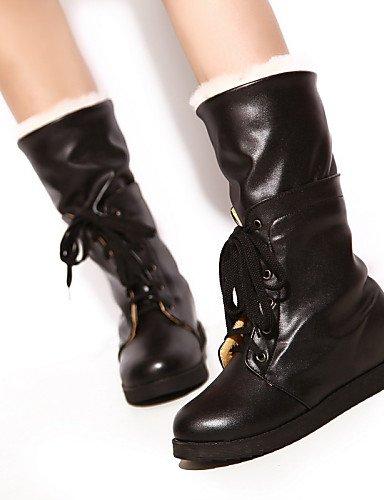 5 Uk6 Oficina Xzz Casual Cerrada Punta Eu39 5 Redonda Trabajo 5 Y Botas De Mujer Black us8 Rojo Zapatos negro Semicuero Vestido Bajo Tacón Peach Cn40 us8 1AH1zqw