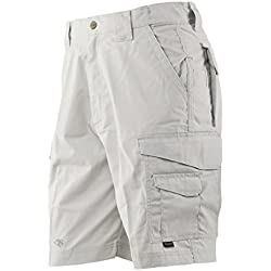 TRU-SPEC Men's 24-7 Polyester Cotton Rip Stop 9-Inch Shorts, Khaki, 36-Inch