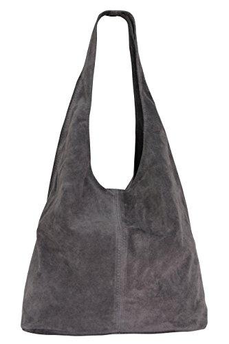 hombro cuero para Bolso gris para mujer de WL818 qw6zSzaW