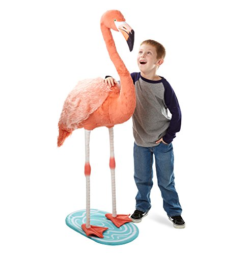 Melissa & Doug Lifelike Plush Flamingo Stuffed Animal (4.5 Feet Tall) ()