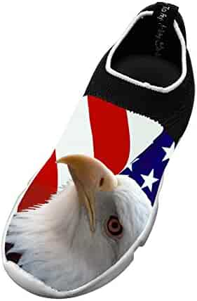 df5066c3ec98 Black Hole American flag bald eagle Kids Running Shoes Flying Fish Flyknit  Light Sports Transform
