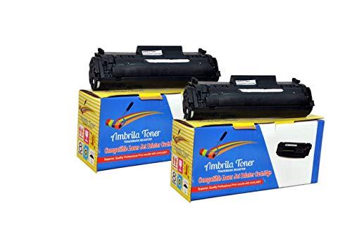 Ambrila Toner 12A Black Toner Cartridge Compatible for HP Laserjet  Pack of 2