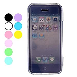 SUMCOM Simple Design Transparent Pattern TPU Case for iPhone 5/5S , Navy