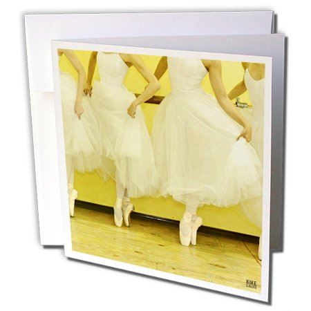 3dRose 8 x 8 x 0.25 Inches Ballerinas of the National Ballet Wearing a Romantic White Dress Greeting Cards, Set of 6...