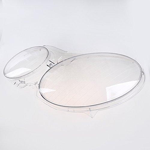 Possbay Headlight Lens Cover, Headlamp Lens Glass Replacement Driver Side for Mercedes-Benz E-Class Sedan W211 2003-2009