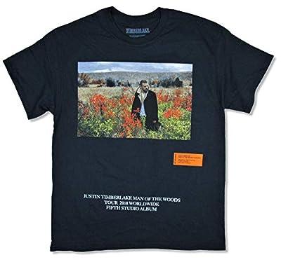 Justin Timberlake Man of The Woods World Tour 2018 Black T Shirt