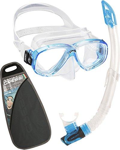 Cressi Perla und Gamma Snorkeling Combo Set, Aquamarine, Uni