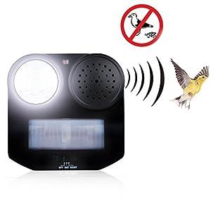 Animal Repellent Chaser Motion Deterrent Repeller Bird, Sound Flashlight New
