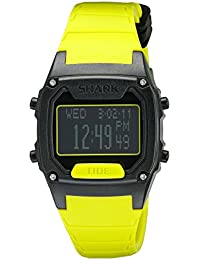 Unisex 10022916 Shark Classic Tide Digital Display Japanese Quartz Yellow Watch