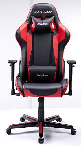 DXRacer USA Formula Series FH00 Gaming Chair Computer Chair Office Chair Ergonomic Design Swivel Tilt Recline Adjustable with Tilt Lock, Includes Headrest Pillow and Lumbar Cushion (Red) (Best Gaming Chair 2019)