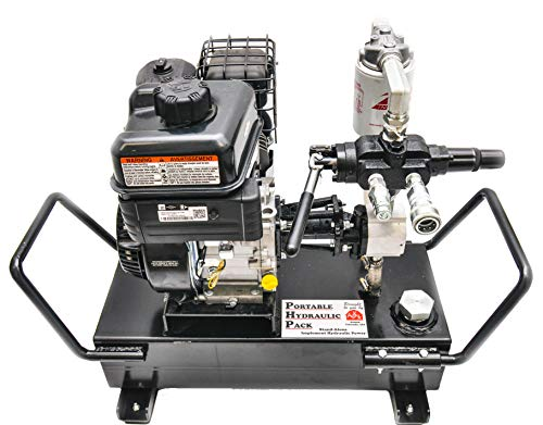 Tool-Tuff Portable Stand-Alone Implement Hydraulic Power Unit Station/Pump System, 5.6 Gal Capacity, 7.5 GPM