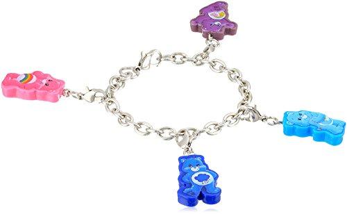 Care Bears 4 Piece Cutout Cheer Grumpy Bedtime BF Charm Bracelet