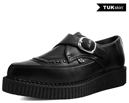 Buckle Creepers (T.U.K. Shoes A9324 Unisex-Adult Creepers, Black TUKskin Pointed Buckle Creeper - US: Mens 8 / Women 10)