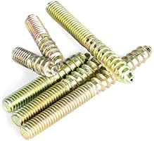 110pcs M4 Dowel Screw Double Ended Threaded Bolts Woodworking Furniture Connector Hanger Bolt 416//20//25//30//35//40mm