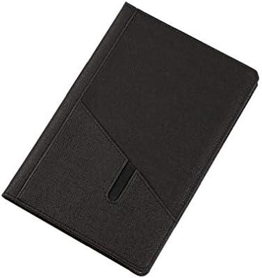 Hardcover Leder Notebook gesäumt College Seiten Office Business-Art-Leder Journal Lässige Schreiben Notizbuch-Schwarz