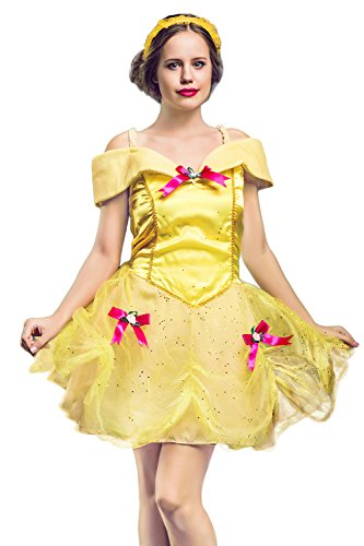 Adult Women Dazzling Princess Halloween Costume Flower Queen Dress Up & Role Play (One Size - Fits All)