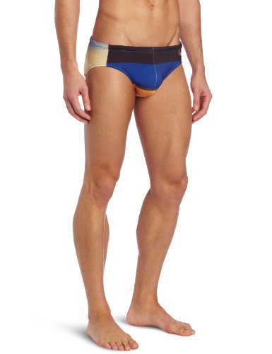 Clever Men's Dock Swimsuit Brief, Dark Blue, Small