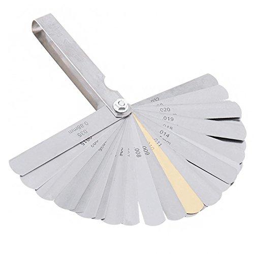 32 Blades Filler Gauge Set Stainless Steel Feeler Gauge Metric and Imperial Gap Measurement Tool 0.04-0.88mm//0.0015-0.035inch