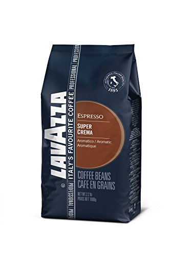 Lavazza Whole Bean - Lavazza Super Crema Whole Bean Coffee Blend, Medium Espresso Roast, 2.2-Pound Bag