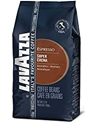 Lavazza Super Crema Whole Bean Coffee Blend, Medium Espresso Roast, 2.2-Pound Bag