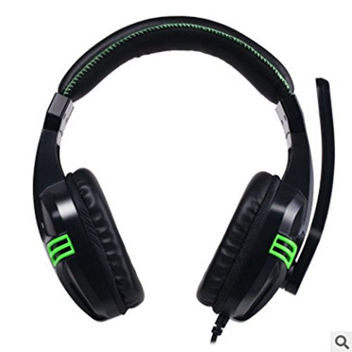 XHKCYOEJ Headset Stereo Headset/Internet Cafes/Headphones/Games/Games/Computers/Wired/Large Headphones/Head/Bass,Green: Amazon.co.uk: Electronics