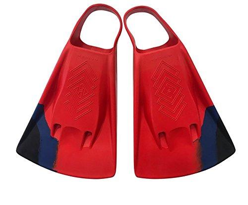 Hubb Dubb Zero Swim Fins (Choose Size and Color) (Red, Large (11-13))