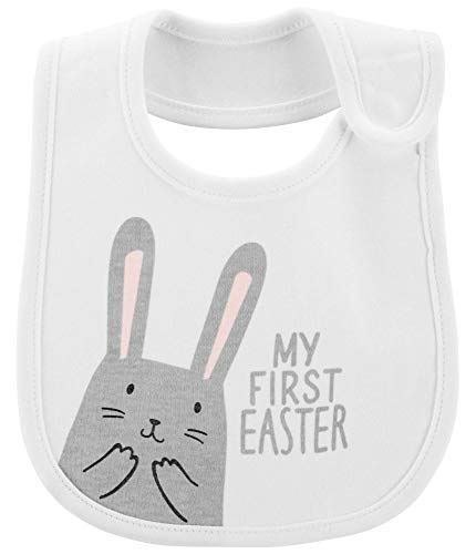 - Carter's My First Easter Bib- White