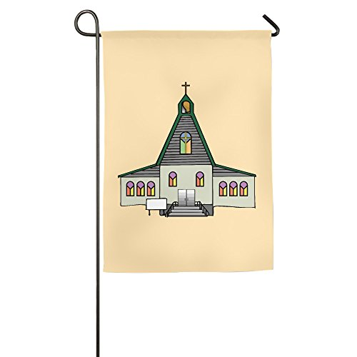 Church Cartoon Building Polyester Home Garden Flag 1827inch