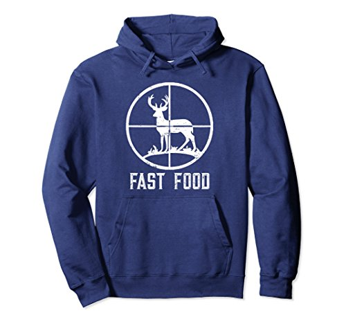 Unisex Fast Food Deer Hunting Hoodies T-Shirt Gift For Hunters 2XL Navy