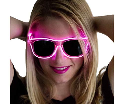 Neon Nightlife Pink Frame/Slightly Tinted Lens Light Up Glasses