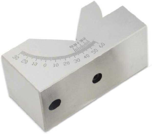 Wenjuersty AP46 - Regla para fresadora (ángulo ajustable, bloque en V, de 0 a 60 grados)
