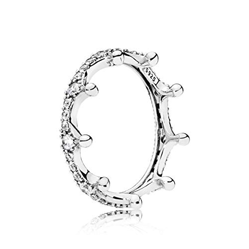 (Candy-OU 5 Color 925 Sterling Silver DIY Crown with Full Crystal Rings for Women Wedding Beauty Jewelry,9,R213)