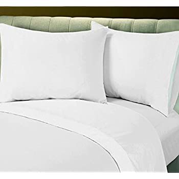 Merveilleux Union Hospitality Linens Cotton Blend Sheets Deals   Hotel White Bed Sheets  Set. 6 Flat