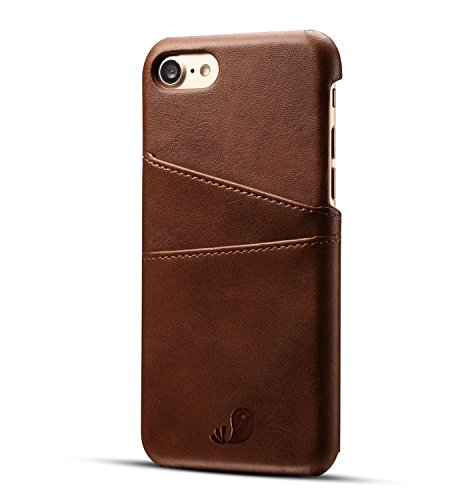 BONSYL Vintage Synthetic Leather Wallet Case with 2 Card Holder Slots for...