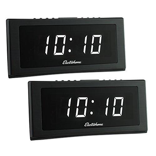 "Electrohome 1.8"" Jumbo LED Alarm Clock Radio with Battery Ba"