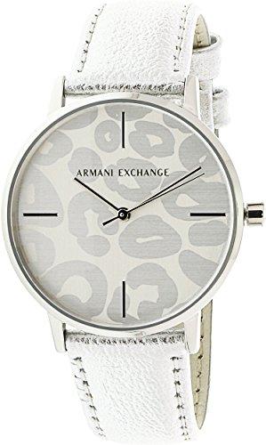 Armani Exchange Women's Dress Silver Leather Watch AX5539