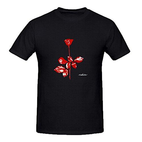 Heeloo Men's Depeche Mode Violator Personalized Big T Shirt Black (Depeche Mode Music For The Masses Shirt)