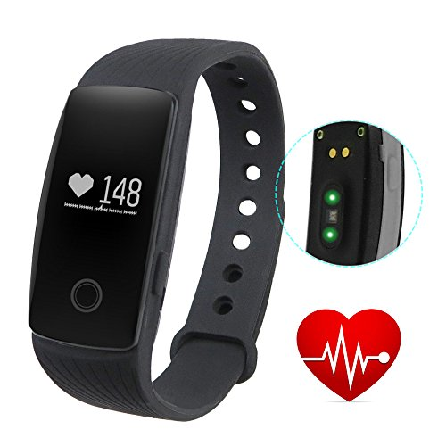 gblife-sports-smart-bracelet-with-heart-rate-monitor-remote-camera-water-resistant-black-