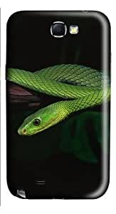 2013 Green Snake Desktop PC Case and Cover for Samsung Galaxy Note 2/ Note II/ N7100