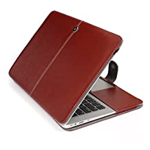 """Easygoby Soft Sleeve for 13-inch Macbook Air - Pu Leather Folio Case Cover Notebook Laptop Bag Carrying Pouch Cover For Apple Macbook Air 13.3"""" (Brown)"""