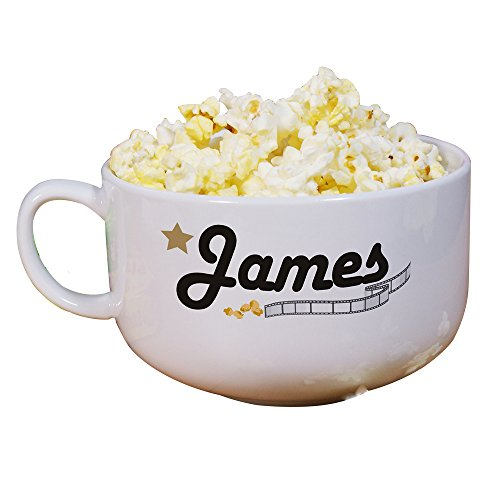GiftsForYouNow Personalized Ceramic Popcorn Bowl -