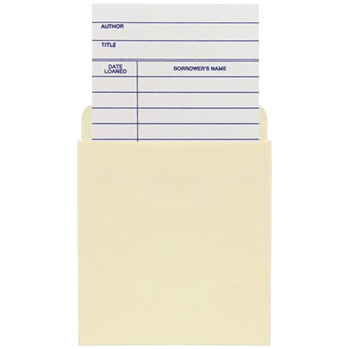 Classroom Book Pocket /Book Card Combo Pack - 500ea/Pkg by The Library Store, Inc.