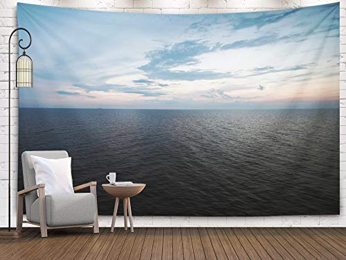 Tooperue Large Wall Hanging Tapestry, Dormitory Tapestry Room Decoration Outdoor 80X60 Inch Sunset Sea Baltic Art Tapestry Beach Blanket Camping Tapestry